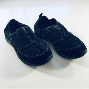 Easy Spirit Esamore Black Suede Zip Walking Shoes